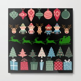 Christmas Elves & More Metal Print