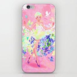 Butterflies dress petal pink iPhone Skin