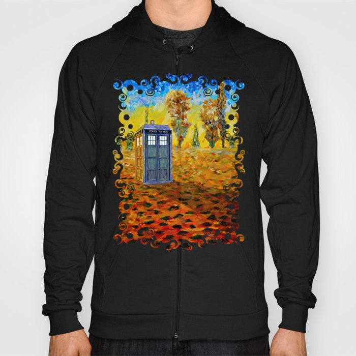 Tardis at Fall Grass field Art painting iPhone 4 4s 5 5c 6, pillow case, mugs and tshirt Hoody