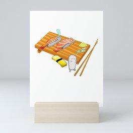 sleepwalk sushi for Japanese food fans Mini Art Print