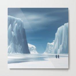 Glaciar Metal Print