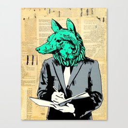 Wolf Head Canvas Print
