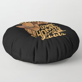 Country From My Down Home Roots To My Cowgirl Boots Floor Pillow