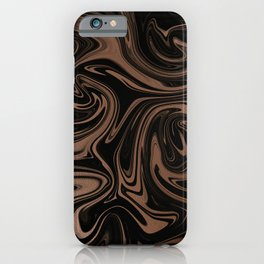 Black & Rose Gold Marble iPhone Case