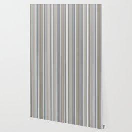 Blue grey Tan Stripes Wallpaper