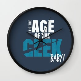 Age of the Geek Wall Clock