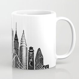 Linocut New York Coffee Mug