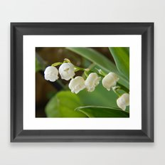 Bell flowers Framed Art Print