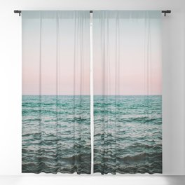 blush ocean Blackout Curtain