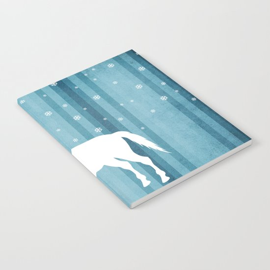 Winter Falls Unicorn Notebook