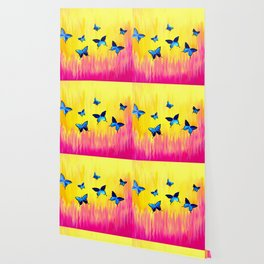Butterflies and Vivid Sundrenched Colors Wallpaper