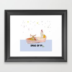 Xmas of Pi Framed Art Print