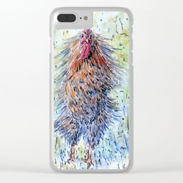 Rooster Shake it Clear iPhone Case