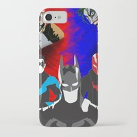 nightwing iPhone & iPod Cases featuring Nightwing, Red Hood by dudesweet