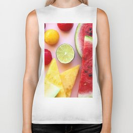 Red and Yellow Watermelon Biker Tank