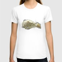 animal skull T-shirts featuring animal skull by jenni leaver