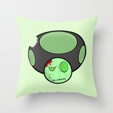 Zombie Toad Throw Pillow