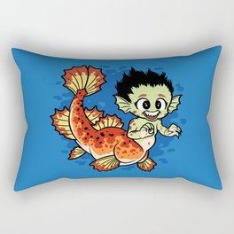 Crimson Pond Dragon Rectangular Pillow