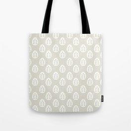 Abstract blush gray white polka dots leaves illustration Tote Bag