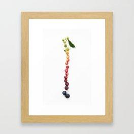 Blueberry Gradient Framed Art Print