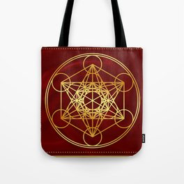 Metatrons Cube, Flower of life, Sacred Geometry Tote Bag