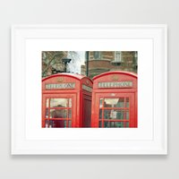telephone Framed Art Prints featuring Telephone by The Last Sparrow