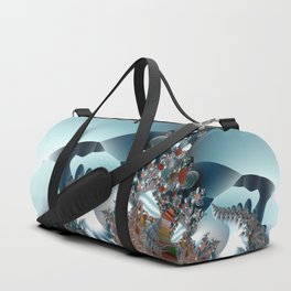 On the Edge of a Fantasy Landscape -- fractal art by Twigisle at Society6 Duffle Bag