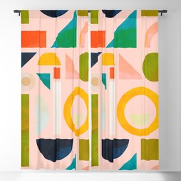 geometric play modern art Blackout Curtain