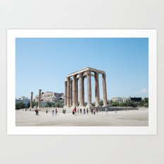 The temples of Athens Art Print