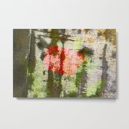 Structured Tulips Metal Print