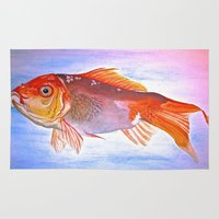 goldfish Area & Throw Rugs featuring Goldfish by Jaime Viens