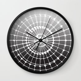 White Black Radiance Wall Clock