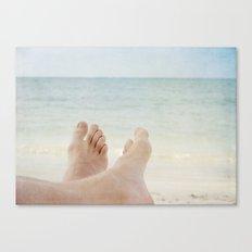 Have fun on beach! Canvas Print
