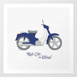 Ride like the wind Art Print