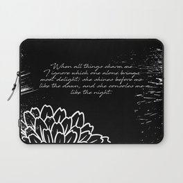 Charles Baudelaire - The Temptation - She consoles me like the night Laptop Sleeve