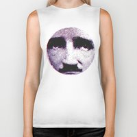 eddie vedder Biker Tanks featuring Eddie looks sad by fabiodicampli