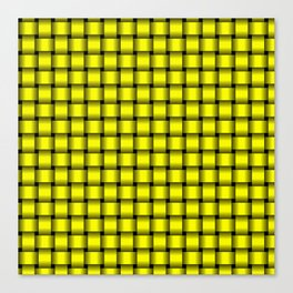 Small Yellow Weave Canvas Print