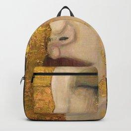Golden Tears (Freya's Heartache) portrait painting by Gustav Klimt Backpack