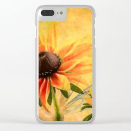 Rudbeckia flowers abstract Clear iPhone Case