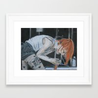 hayley williams Framed Art Prints featuring Hayley Williams - Soundwave by Meliese Reid
