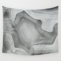 mineral Wall Tapestries featuring MINERAL MONOCHROME by Catspaws