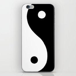 Yin and Yang BW iPhone Skin