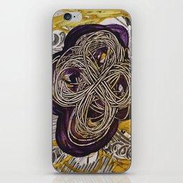 Golden Toroidal Toroids of Love iPhone Skin