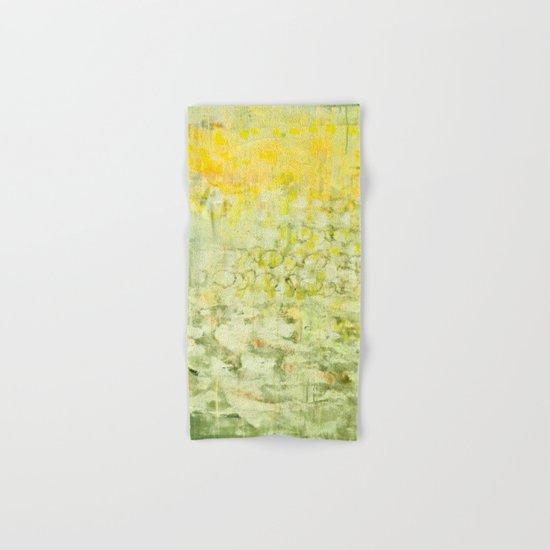 yellow greens Hand & Bath Towel