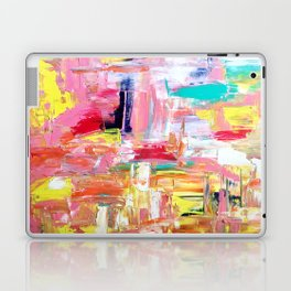 Contemporary Palette Knife Abstract Plaid 4 Laptop & iPad Skin
