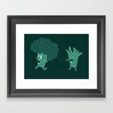 So Many Brains! Framed Art Print