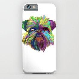 Splash Brussels Griffon Dog iPhone Case