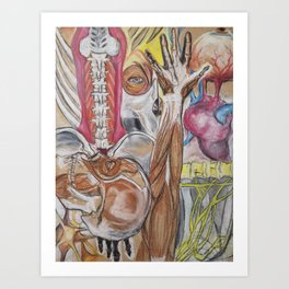 Anatomy Mash-up Art Print