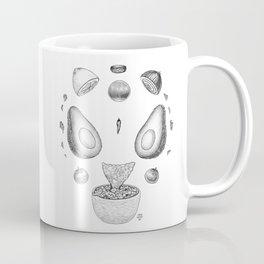 Avocado Mandala (Black and White) Coffee Mug