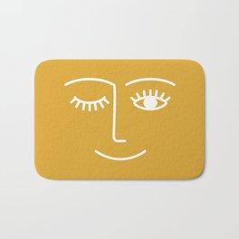 wink / mustard Badematte